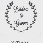 ตราปั๊มงานแต่ง WD026