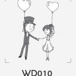 ตราปั๊มงานแต่ง WD010
