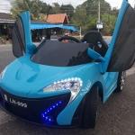 🚗รถแบตเฟอรารี่ปีกนก 2แบต2มอเตอร์ มีรีโมท+ขับเองได้ สีฟ้า **** สินค้ารวมจัดส่งเคอรรี่ ****