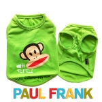 (สินค้าหมดรุ่น) เสื้อกล้ามสุนัข Paul Frank สีเขียว รุ่น 7 สี 7 วัน พร้อมส่ง