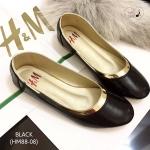 รองเท้าคัชชูส้นแบน STYLE H&M พื้นตีแบรนด์ หนังนิ่ม