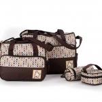 กระเป๋าสัมภาระคุณแม่เซท 4ใบ สีน้ำตาล