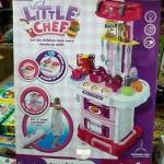 ชุดครัวกระเป๋าลาก 3in1 สีชมพู