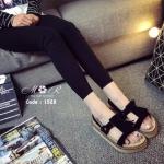 รองเท้าลำลองหนังแท้ แบรนด์เกาหลี พื้นออกแบบมารองรับสรีระของเท้าให้ใส่กระชับ สบายเท้าและข้อเข่า