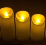 เทียน LED เปลวสะบัด มีแดงและครีม 8 x 12,14,16,18, 20cm