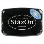 หมึกปั๊มพลาสติก สีดำ ตลับใหญ่ Jet Black (L)