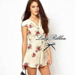Lady Ribbon's Made ASOS Mini Flowery Blooming Chic Playsuit