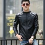 พรีออร์เดอร์ เสื้อแจ็คเก็ตหนัง PU เสื้อหนัง สีดำ คอตั้ง ซิปตรง ทรงเรียบ แต่งบ่า ใส่ขี่มอเตอร์ไซค์ ใส่เป็นเสื้อคลุม ใส่เท่ ใส่สบาย