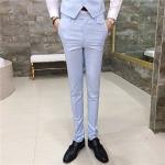 พรีออเดอร์ กางเกงขายาวผู้ชาย สีฟ้า กางเกงสแลค ใส่แมทซ์กับสูทได้