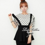 Lady Ribbon's Made Lady Feona Glam Chic Peplum Smock
