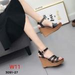 รองเท้าส้นเตารีดสูงประมาณ 5 นิ้ว น้ำหนักเบาแบบรัดส้นด้านหน้าฉลุลายสวยงาม