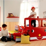 Fire Engine sliding bed