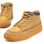 รองเท้าแฟชั่นผู้ชาย พรีออร์เดอร์ รองเท้าผ้าใบ รองเท้าหุ้มข้อ สีน้ำตาล ผูกเชือก ใส่เที่ยว ใส่ทำงาน
