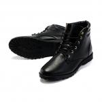 รองเท้าแฟชั่นผู้ชาย พร้อมส่ง รองเท้าหนังด้าน รองเท้าหุ้มข้อ สีดำ ผูกเชือก