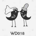 ตราปั๊มงานแต่ง WD018