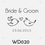 ตราปั๊มงานแต่ง WD020