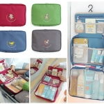 Partition Wash Bag กระเป๋าอเนกประสงค์ สำหรับใส่อุปกรณ์อาบน้ำ เครื่องสำอางค์ (Size L)
