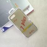 เคส iPhone7 Plus Tpu นิ่ม สีเทาใส