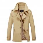 พรีออร์เดอร์ เสื้อแจ็คเก็ตกันหนาวผู้ชาย สีกากี ออกแบบเท่ห์ ใส่กันหนาว ใส่คลุมได้