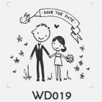 ตราปั๊มงานแต่ง WD019