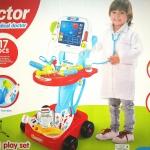 ชุดหมอรถเข็น medical playset มาใหม่ พร้อมส่งสีฟ้า ส่งฟรี