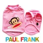 (สินค้าหมดรุ่น) เสื้อกล้ามสุนัข Paul Frank สีชมพู รุ่น 7 สี 7 วัน พร้อมส่ง