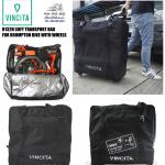 VINCITA : B132H กระเป๋าใส่จักรยานบรอมตันแบบมีล้อทั้งสองด้าน