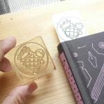 stamp 4*4 cm