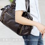 กระเป๋าผู้ชายแฟชั่นเกาหลี ใบใหญ่หนังนิ่ม อะไหล่ทอง สุดฮอต สไตล์ Shopper's Delight