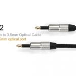 ขาย FiiO L12 สาย Optical 3.5mm to Optical 3.5mm (สายออฟติคอล แบบ3.5mm) สำหรับ PC / NB / Macbook ที่มีพอร์ท Optical แบบ3.5mm