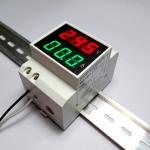 AC 2-in-1 Voltmeter / Ammeter 200-450V 1-99A DIN Rail Mount