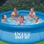 สระว่ายน้ำเด็กเป่าลม สระว่ายน้ำเป่าลม สระเป่าลม Intex สระน้ำเป่าลมอีซี่เซ็ต 10 ฟุต (305 ซม.) รุ่น 28120 - สีน้ำเงิน