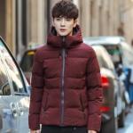 พรีออร์เดอร์ เสื้อโค้ทผู้ชาย สีแดง มีฮู้ด2ชั้น บุนวมหนา ใส่กันหนาว ใส่ลุยหิมะ