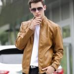 พรีออร์เดอร์ เสื้อแจ็คเก็ตหนัง PU เสื้อหนัง สีน้ำตาล ทรงเรียบ ใส่ขี่มอเตอร์ไซค์ ใส่เป็นเสื้อคลุม ใส่เท่ ใส่สบาย
