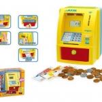 กระปุกออมสิน ATM พร้อมธนบัตรและเหรียญจำลอง