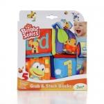 บลอคผ้า bright starts Grab & Stack Blocks (หลากสี) ส่งฟรี