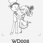 ตราปั๊มงานแต่ง WD008