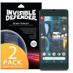 ฟิล์มกันรอย Google Pixel 2 Screen Protector, Invisible Defender [Full Coverage][2-Pack]