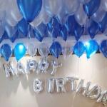 ลูกโป่งปาร์ตี้วันเกิด สีฟ้า