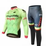 ชุดแขนยาวปั่นจักรยานลายทีม CANNONDALE กางเกงเป้าเจล