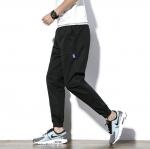 พร้อมส่ง jogger pants สีดำ กางเกงขายาว จั้มปลายขา ใส่สบาย กางเกงแฟชั่นผู้ชาย
