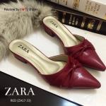 รองเท้า STYLE ZARA หนังนิ่มหัวแหลม พื้นตีแบรนด์