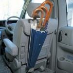 ที่เก็บร่มในรถ สีกรม ปรับระดับได้ กันน้ำ ใส่ร่มได้ 1-3 คัน หยิบใช้สะดวก เมื่อไม่ใช้งานม้วนพับเก็บได้