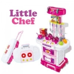 ชุดโต๊ะครัวกระเป๋าลาก little cheif พร้อมส่งสีมพู ส่งฟรี