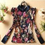 เสื้อลูกไม้เนื้อดีลายดอกไม้สีสวยสดใส