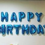 ลูกโป่งฟอยล์ HAPPY BIRTHDAY สีฟ้า