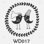 ตราปั๊มงานแต่ง WD017