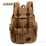 พร้อมส่ง สีกากี กระเป๋าเป้สะพายหลัง ผ้าแคนวาส เป็นกระเป๋าbackpack หรือสะพายไปทำงาน ใส่notebook ได้