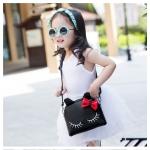 กระเป๋าแฟชั่น สำหรับเด็ก ทรงกระต่าย สีดำ น่ารัก ได้ทั้ง สะพาย + เป้