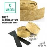 VINCITA : T002 ผ้าพันแฮนด์ สีน้ำตาลลายไม้